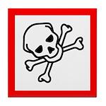Toxic Substance Pictogram Tile Coaster