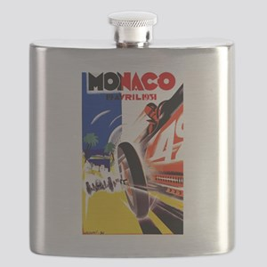 Antique 1931 Monaco Grand Prix Auto Race Poster Fl