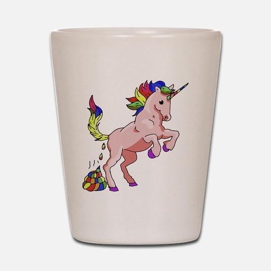 Rainbow Unicorn Shot Glass