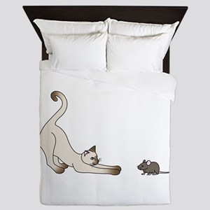 Cat and Mouse Queen Duvet