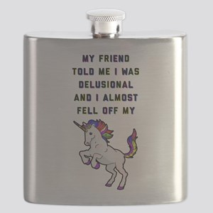 I Almost Fell Off My Unicorn Flask