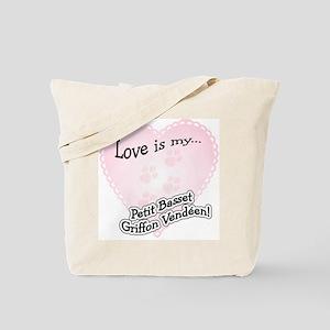 Love is my Petit Basset Griffon Vendeen Tote Bag