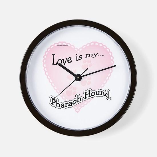 Love is my Pharaoh Hound Wall Clock
