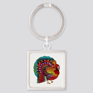 Thanksgiving Jeweled Turkey Keychains