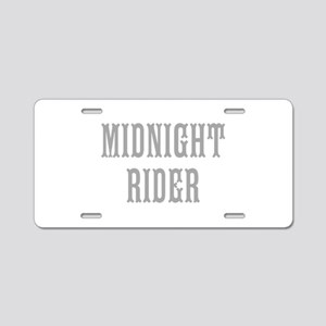 MIDNIGHT RIDER Aluminum License Plate