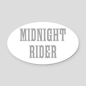 MIDNIGHT RIDER Oval Car Magnet