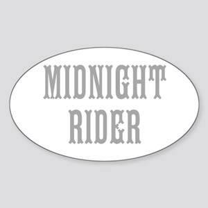MIDNIGHT RIDER Sticker (Oval)