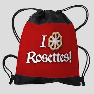 i-love-rosettes_b Drawstring Bag