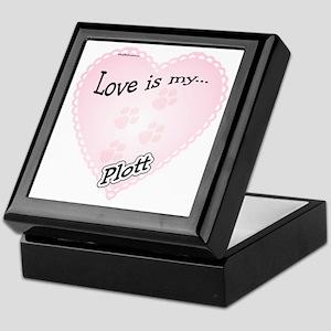 Love is my Plott Keepsake Box