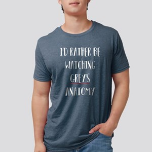 I'd Rather Be Watching Grey Mens Tri-blend T-Shirt