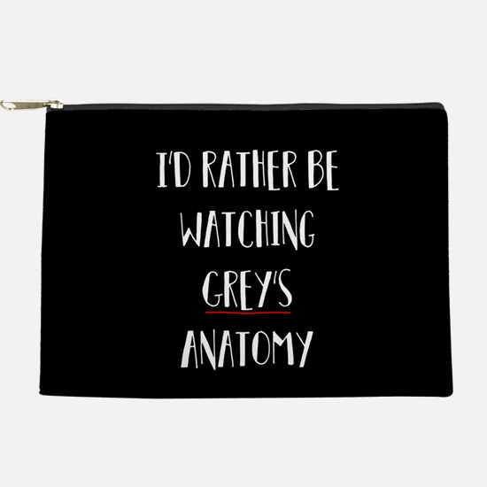 I'd Rather Be Watching Grey's Anatomy Makeup Pouch