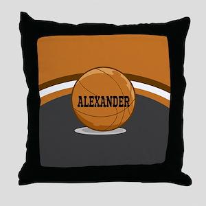 Stylish Custom Basketball Theme Throw Pillow