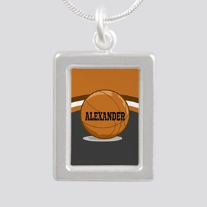 Stylish Custom Basketball Theme Silver Portrait Ne
