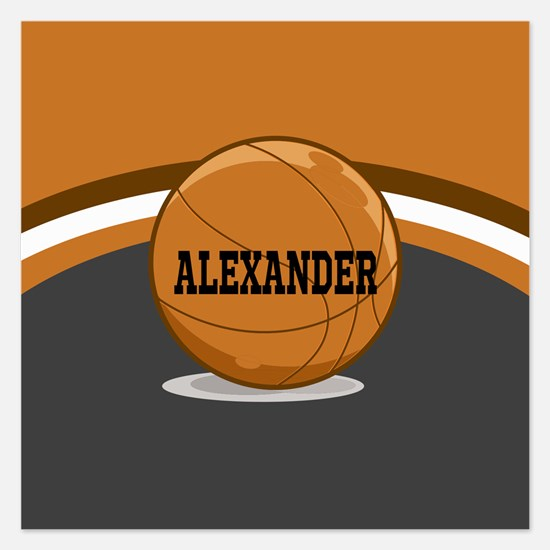 Stylish Custom Basketball Theme 5.25 x 5.25 Flat C