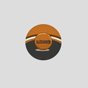 Stylish Custom Basketball Theme Mini Button