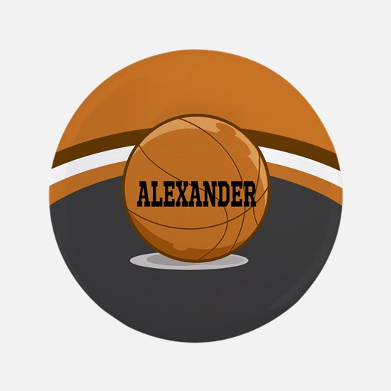"Stylish Custom Basketball Theme 3.5"" Button"