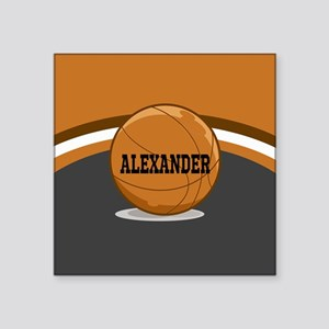 Stylish Custom Basketball Theme Square Sticker 3""