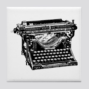 Vintage Typewriter Tile Coaster