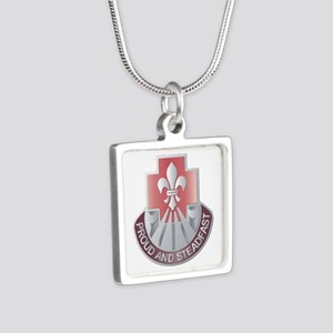 DUI - 62nd Medical Brigade Silver Square Necklace