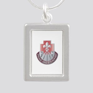 DUI - 62nd Medical Brigade Silver Portrait Necklac