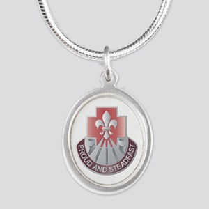 DUI - 62nd Medical Brigade Silver Oval Necklace