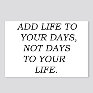 Add Life To Your Days Postcards (Package of 8)