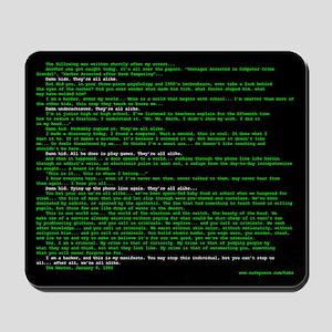 Hacker's Manifesto Mousepad
