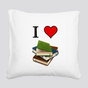 Books Square Canvas Pillow