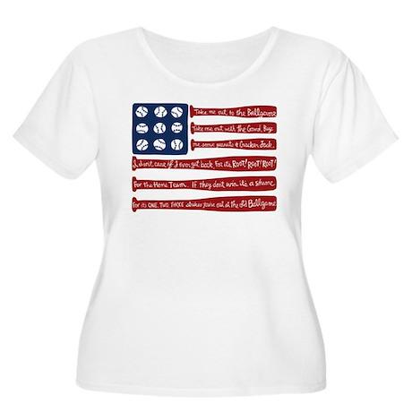 Baseball/flag Plus Size T-Shirt