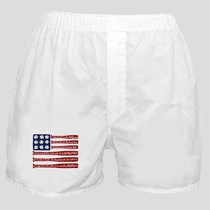 Baseball/flag Boxer Shorts