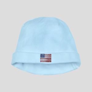 Baseball/flag Baby Hat
