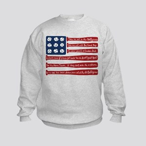 Baseball/flag Sweatshirt
