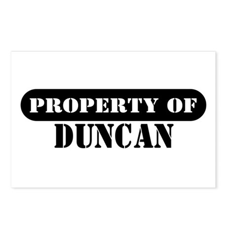 Property of Duncan Postcards (Package of 8)