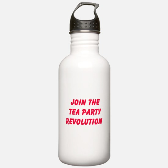 Join The Tea Party Revolution Water Bottle