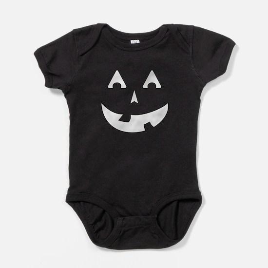 Goofy Pumpkin (White) Baby Bodysuit