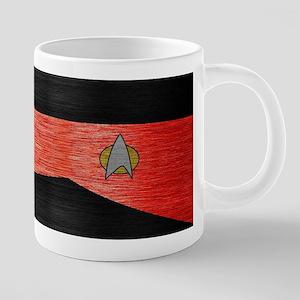 SF 2360 METAL1 RED 20 oz Ceramic Mega Mug