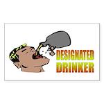 Designated Drinker Rectangle Sticker