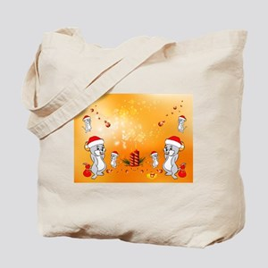 Cute Cartoon Chistmas Mouse Tote Bag