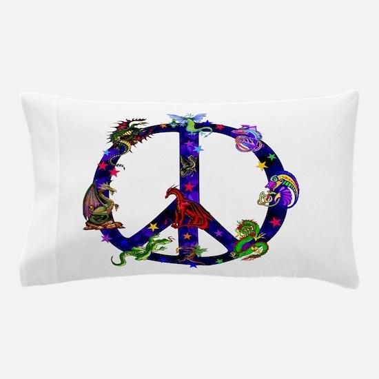 Dragon Peace Sign Pillow Case