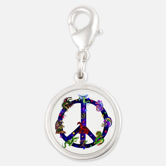 Dragon Peace Sign Charms