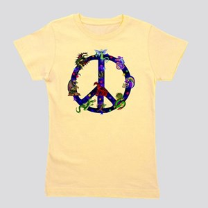 Dragons Peace Sign Girl's Tee