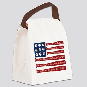 Baseball/flag Canvas Lunch Bag
