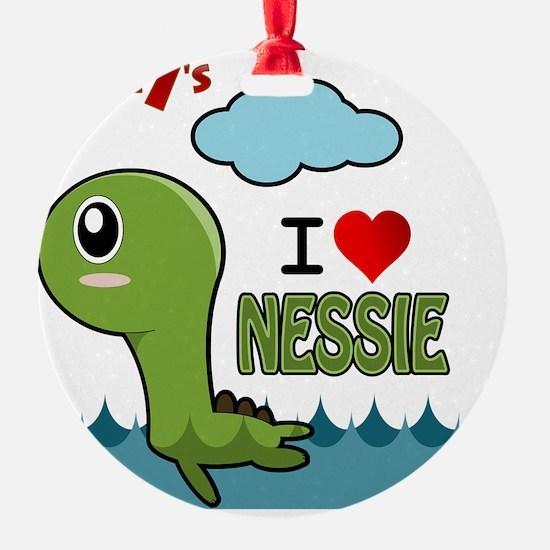 Lucky7's I love Nessie Ornament