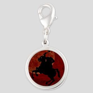 Headless Horseman Silver Round Charm