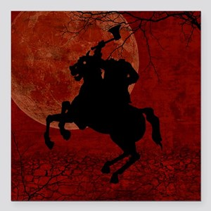 "Headless Horseman Square Car Magnet 3"" x 3"""