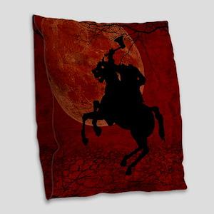 Headless Horseman Burlap Throw Pillow