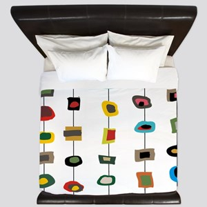 mcm abstract strands 3 King Duvet