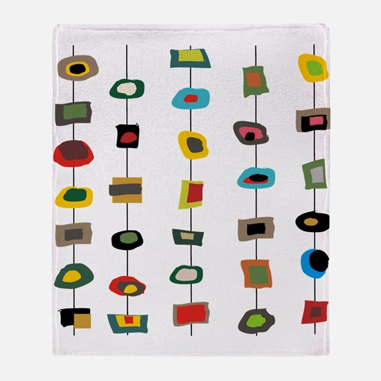 mcm abstract strands 3 Throw Blanket