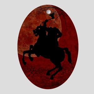 Headless Horseman Ornament (Oval)