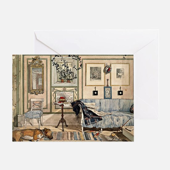 Cosy Corner, painting by Carl Larsso Greeting Card
